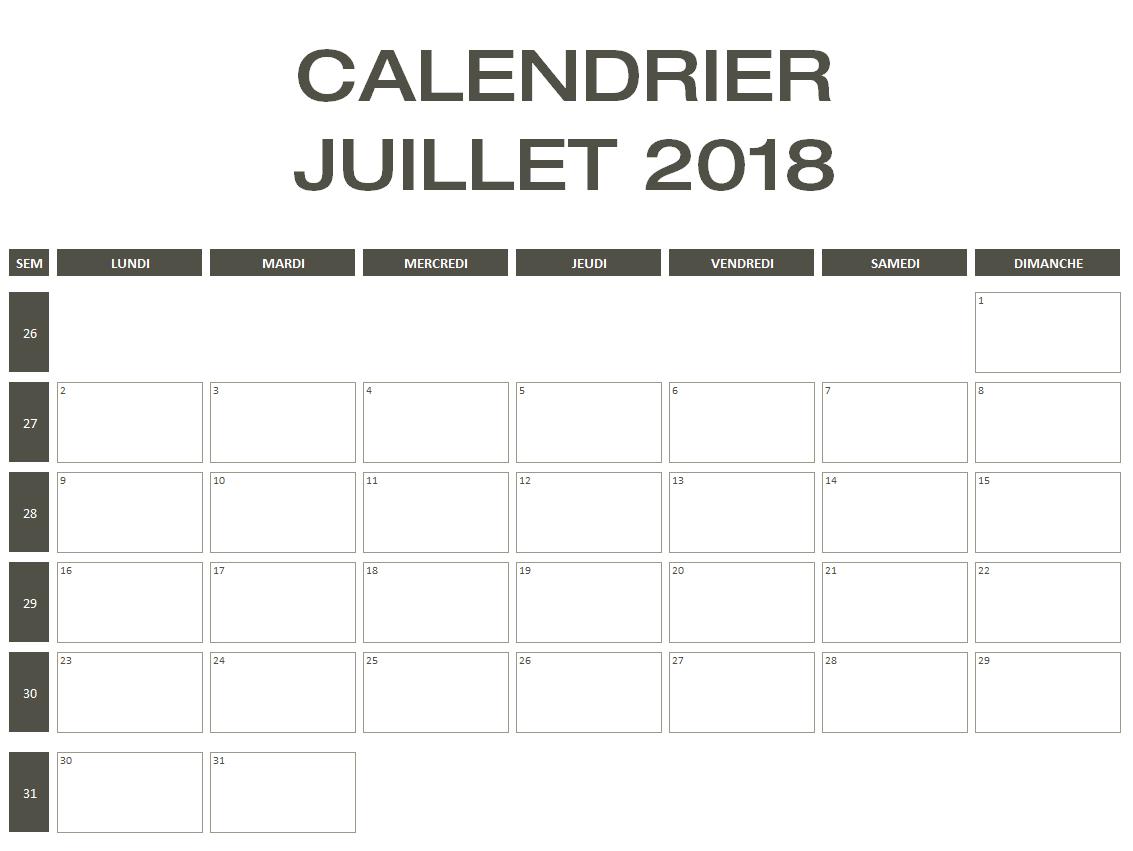 Calendrier 2018 Excel & Pdf À Télécharger Gratuitement à Calendrier Mars 2018 À Imprimer