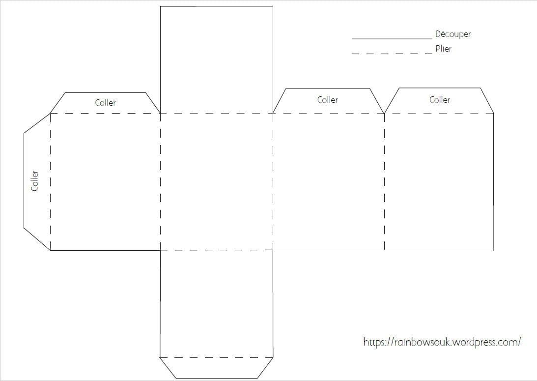 Calendrier De L'avent À Fabriquer : Des Maisonnettes En Papier tout Gabarit Boite En Papier