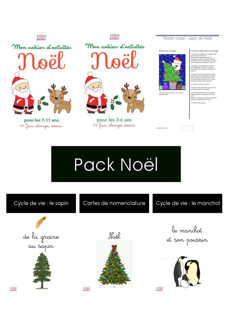 Calendrier De L'avent Père Noël À Découper - Cabane À Idées destiné Pere Noel A Decouper