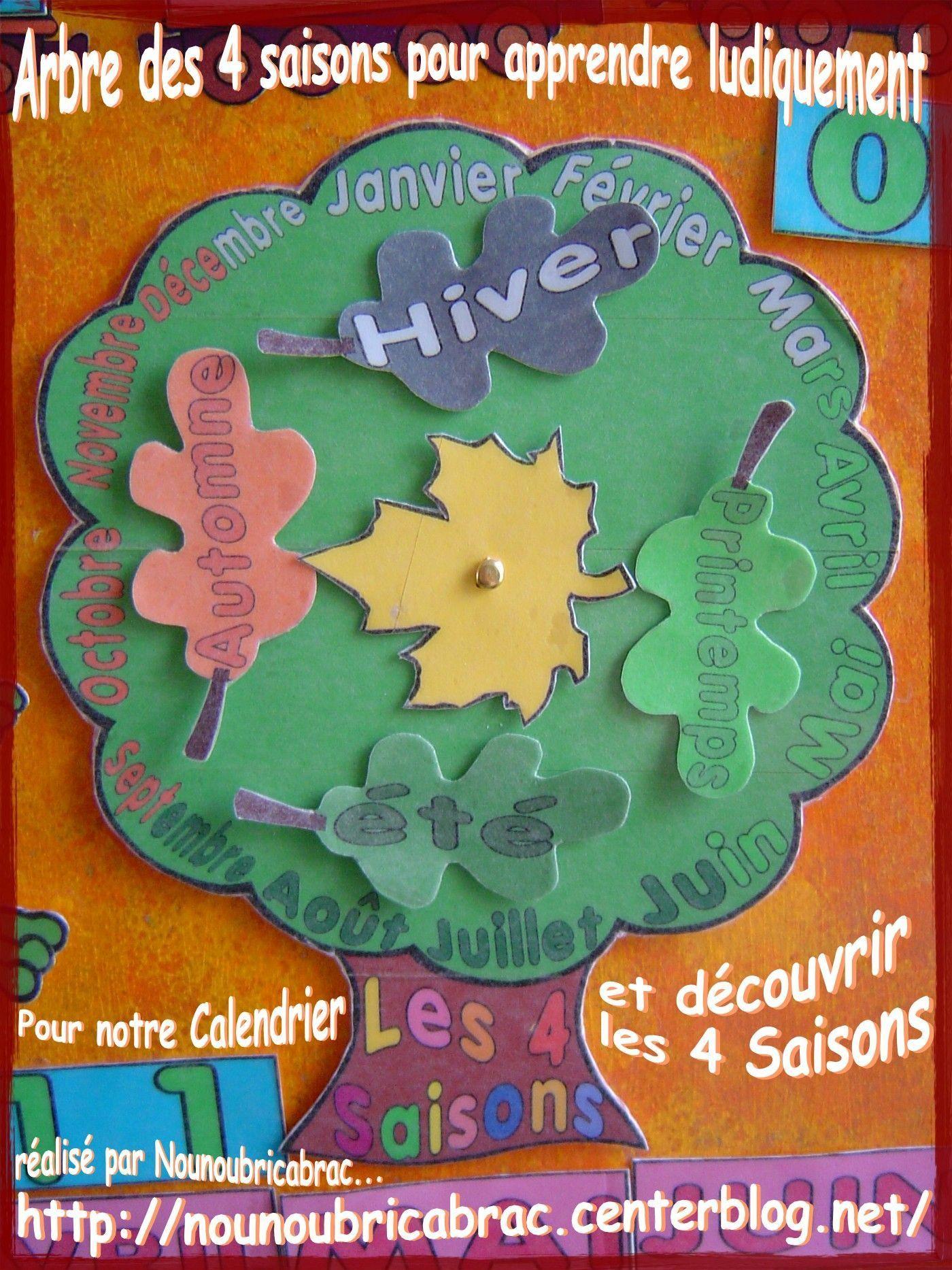 Calendrier Pour Apprendre Ludiquement L'arbre Des 4 Saisons ! encequiconcerne Apprendre Les Saisons En Maternelle