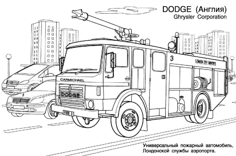 Camion De Pompier #22 (Transport) – Coloriages À Imprimer serapportantà Coloriage Camion De Pompier Gratuit À Imprimer