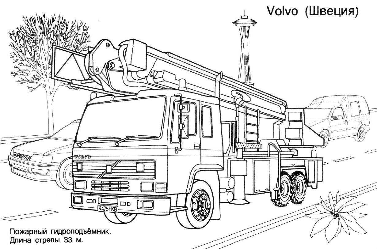 Camion De Pompier #26 (Transport) – Coloriages À Imprimer concernant Coloriage Camion De Pompier Gratuit À Imprimer