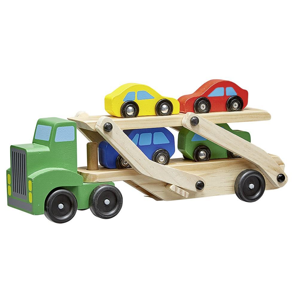 Camion Transporteur 4 Voitures En Bois encequiconcerne Jeux De 4 4 Voiture