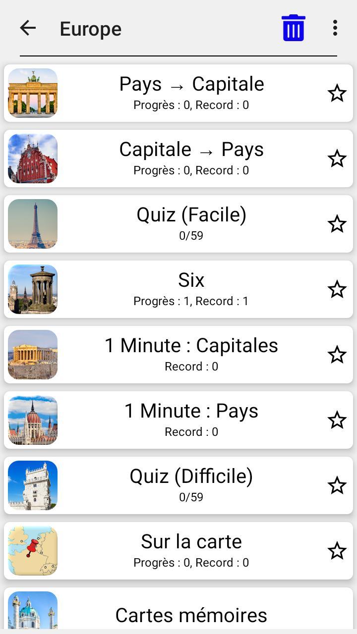 Capitales De Tous Les Pays Du Monde - Le Quiz Pour Android dedans Jeu Des Capitales
