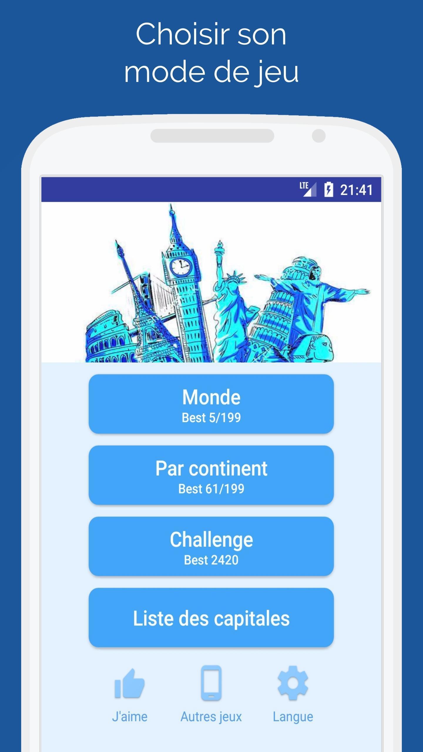 Capitales Des Pays Du Monde - Quiz Pour Android encequiconcerne Jeu Des Capitales