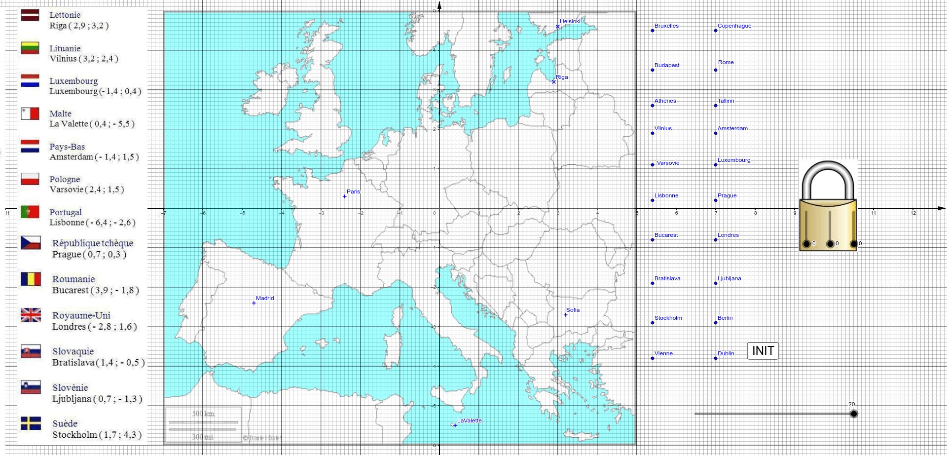Capitales D'europe – Geogebra pour Les Capitales D Europe