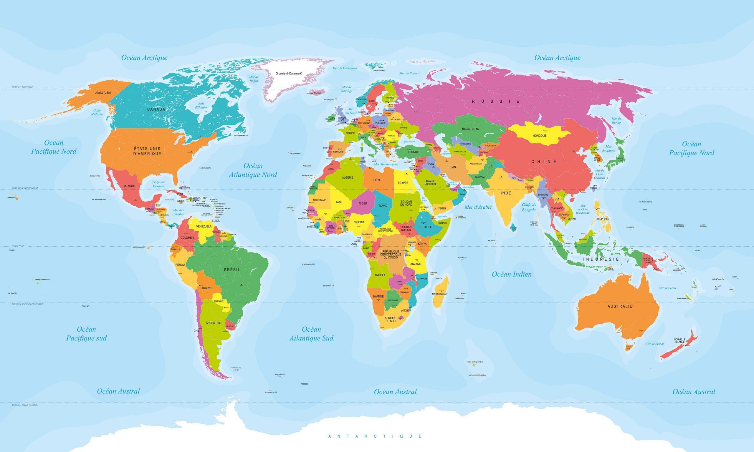 Capitales Du Monde Par Pays - Présentation De La Capitale De encequiconcerne Carte Du Monde Avec Continent