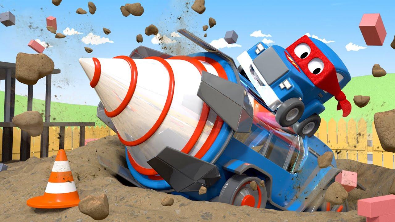 Carl Le Super Truck - La Foreuse Géante - La Ville Des encequiconcerne Adibou Voiture