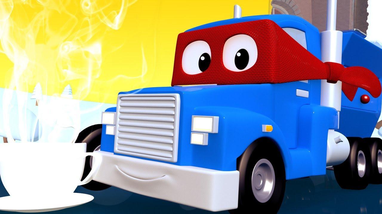 Carl Le Super Truck - La Machine À Chocolat Chaud - La Ville destiné Adibou Voiture