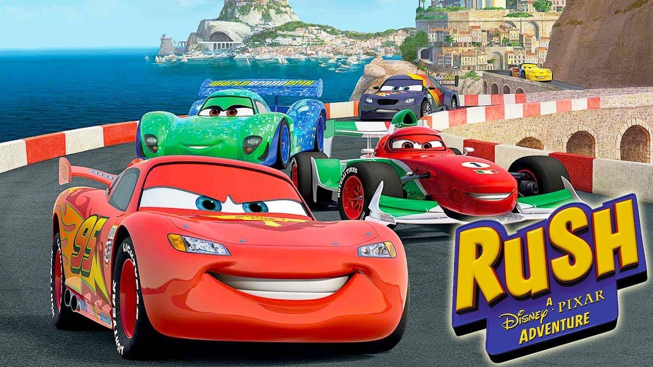 Cars Voiture De Course Jeux Vidéo En Français - Rush Une Aventure Disney  Pixar dedans Jeux De Voiture Rouge