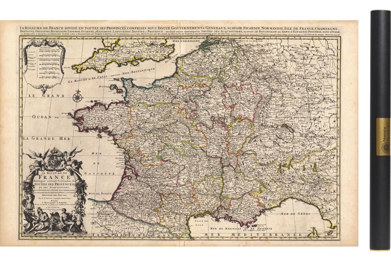 Carte Ancienne De France En 1708 destiné Carte Anciennes Provinces Françaises