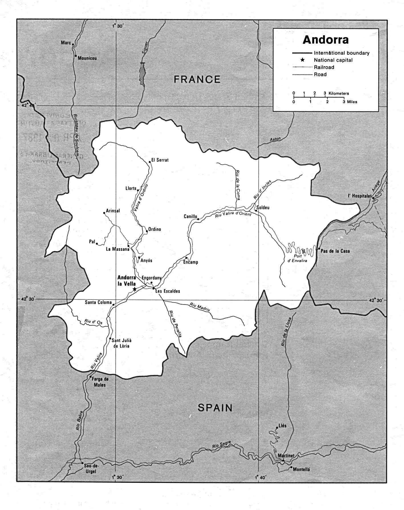 Carte Andorre, Carte De Andorre à Union Européenne Carte Vierge