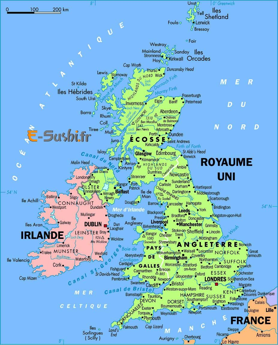 Carte Angleterre – Image Et Photos | Carte Angleterre, Carte destiné Carte De France Détaillée Avec Les Villes