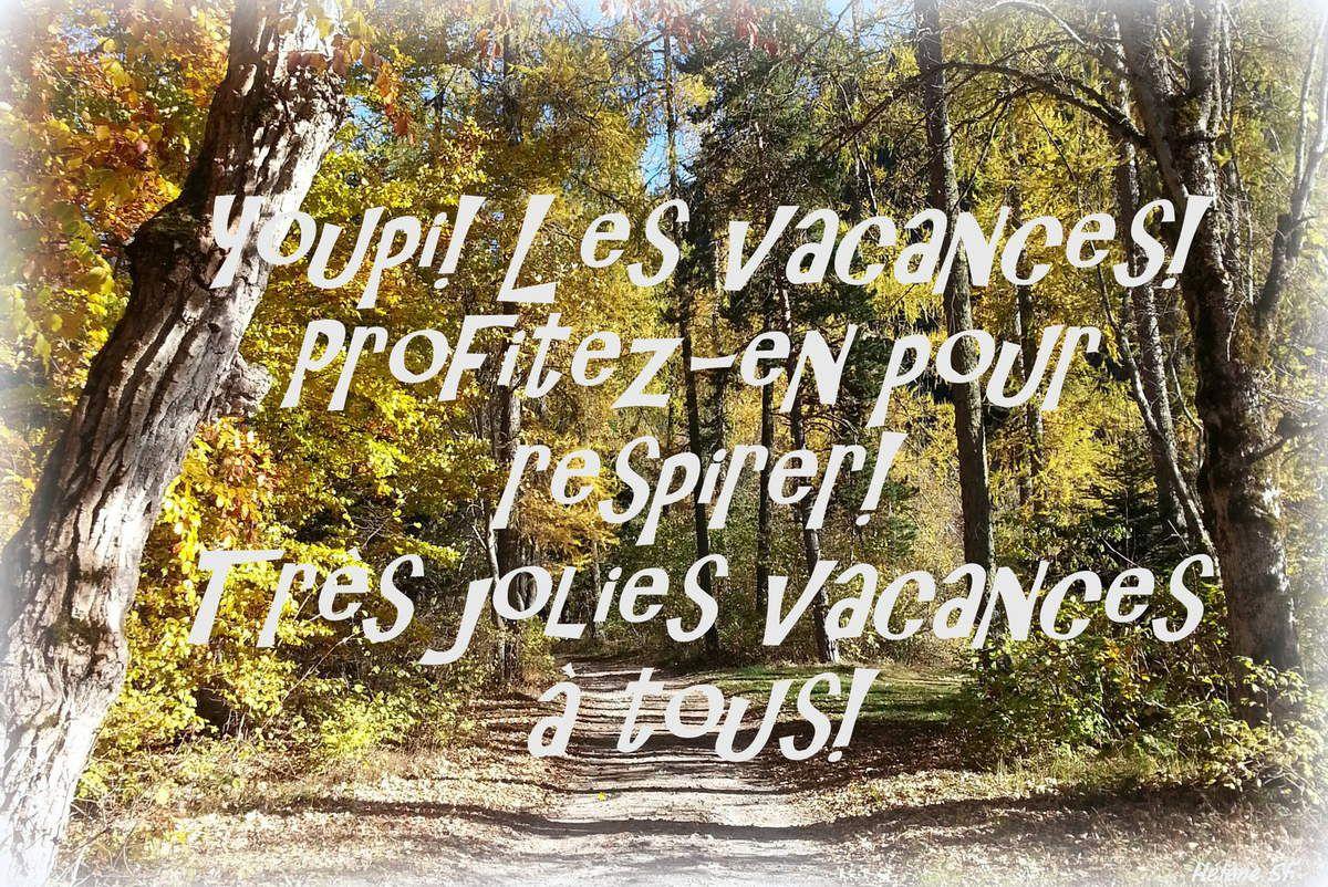 Carte Bonnes Vacances D'automne - Hélène Sf pour Images Bonnes Vacances Gratuites