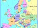 Carte Capitales Des Pays D'europe | Capital Des Pays pour Liste Des Pays De L Union Européenne Et Leurs Capitales