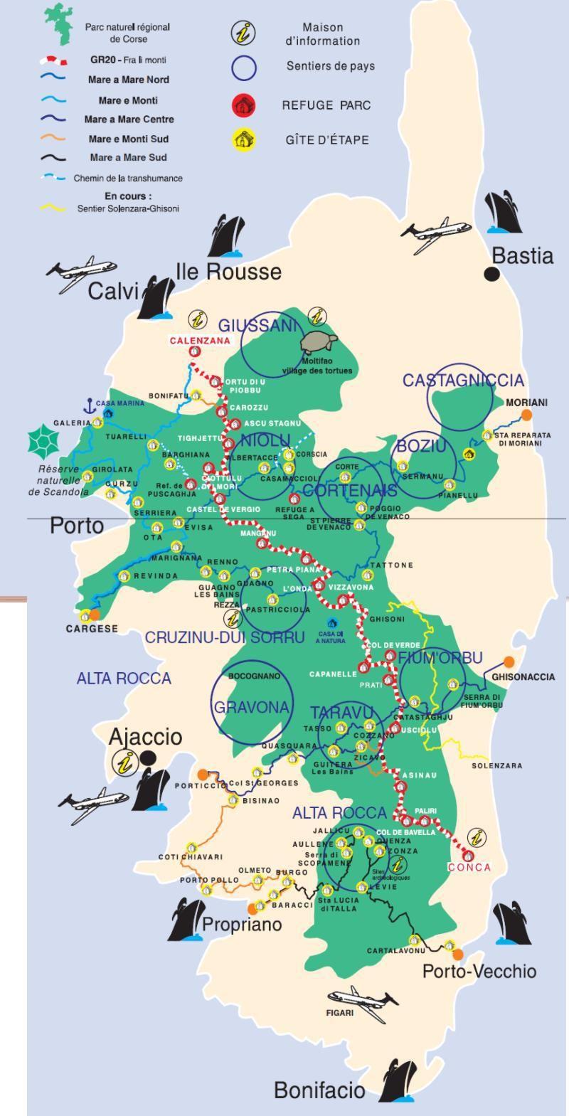 Carte Corse Gr20 | Corse Carte, Corse, Corse Voyage tout Gap Sur La Carte De France