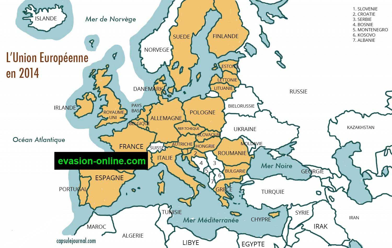 Carte D Europe Images Et Photos » Vacances - Arts- Guides avec Union Européenne Carte Vierge