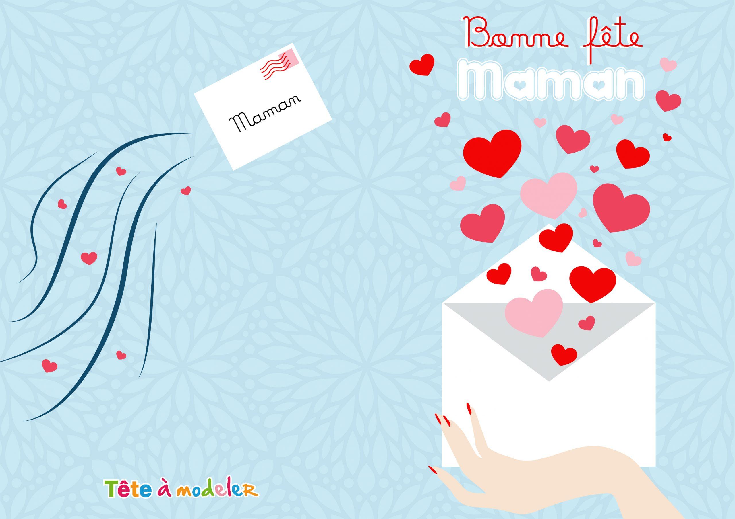 Carte D'amour Fête Des Mères À Imprimer destiné Carte Bonne Fete Maman A Imprimer