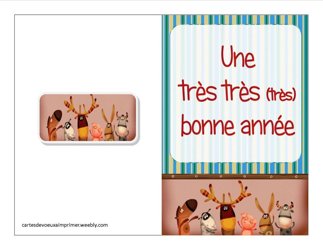Carte De Bonne Année Pour Enfants A Imprimer Gratuite à Carte De Bonne Année Gratuite A Imprimer