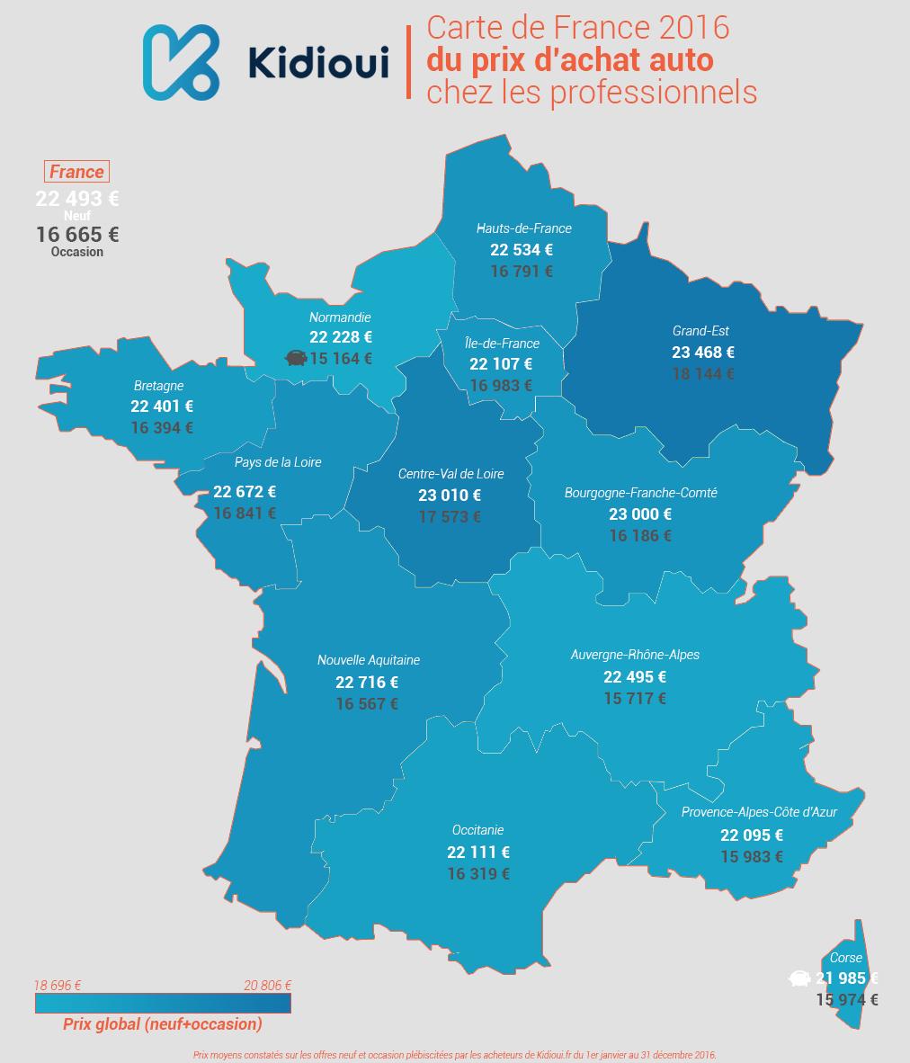 Carte De France 2016 Du Prix D'achat Auto Chez Les encequiconcerne Acheter Carte De France