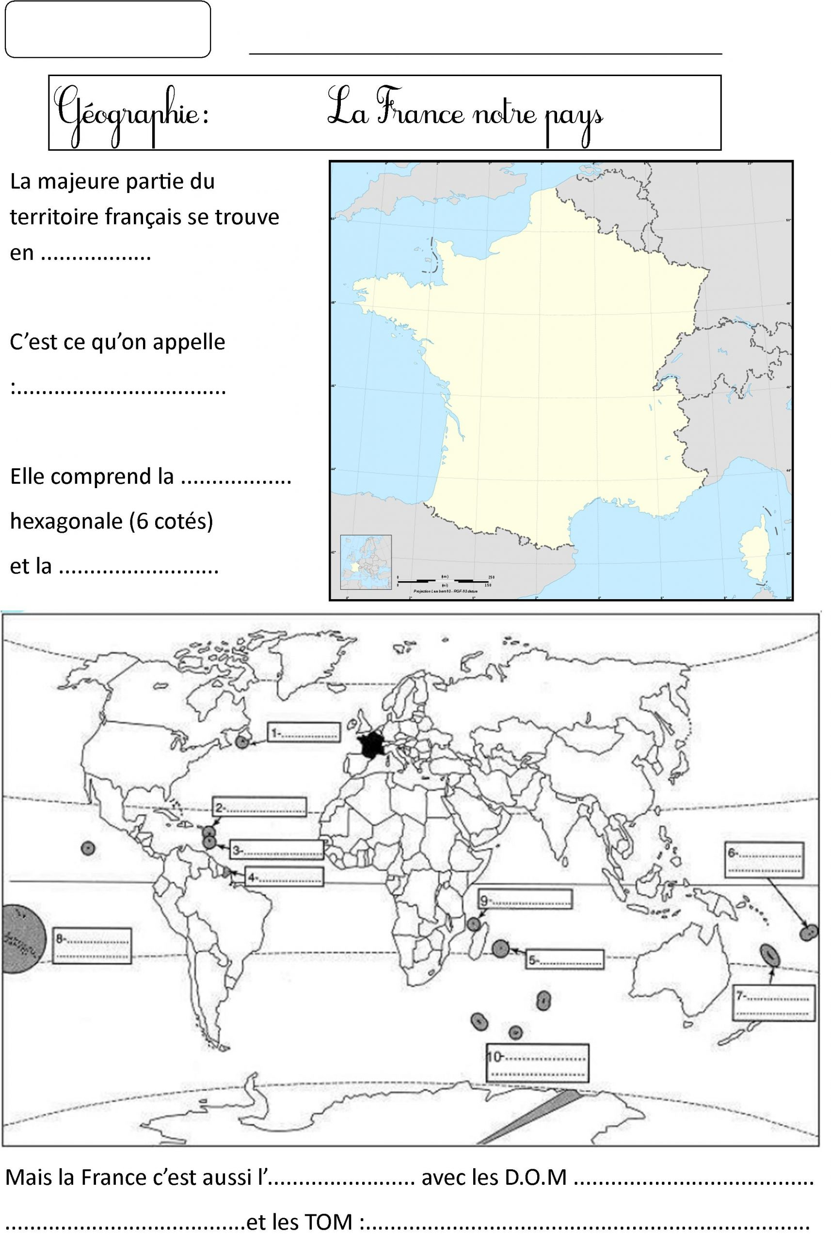 Carte De France Ce2 | Le Blog De Monsieur Mathieu avec Carte De France Ce1