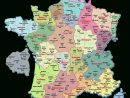 Carte De France Departements : Carte Des Départements De France dedans La Carte De France Et Ses Régions