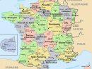 Carte De France Départements Villes Et Régions   France Map encequiconcerne Carte Des 22 Régions