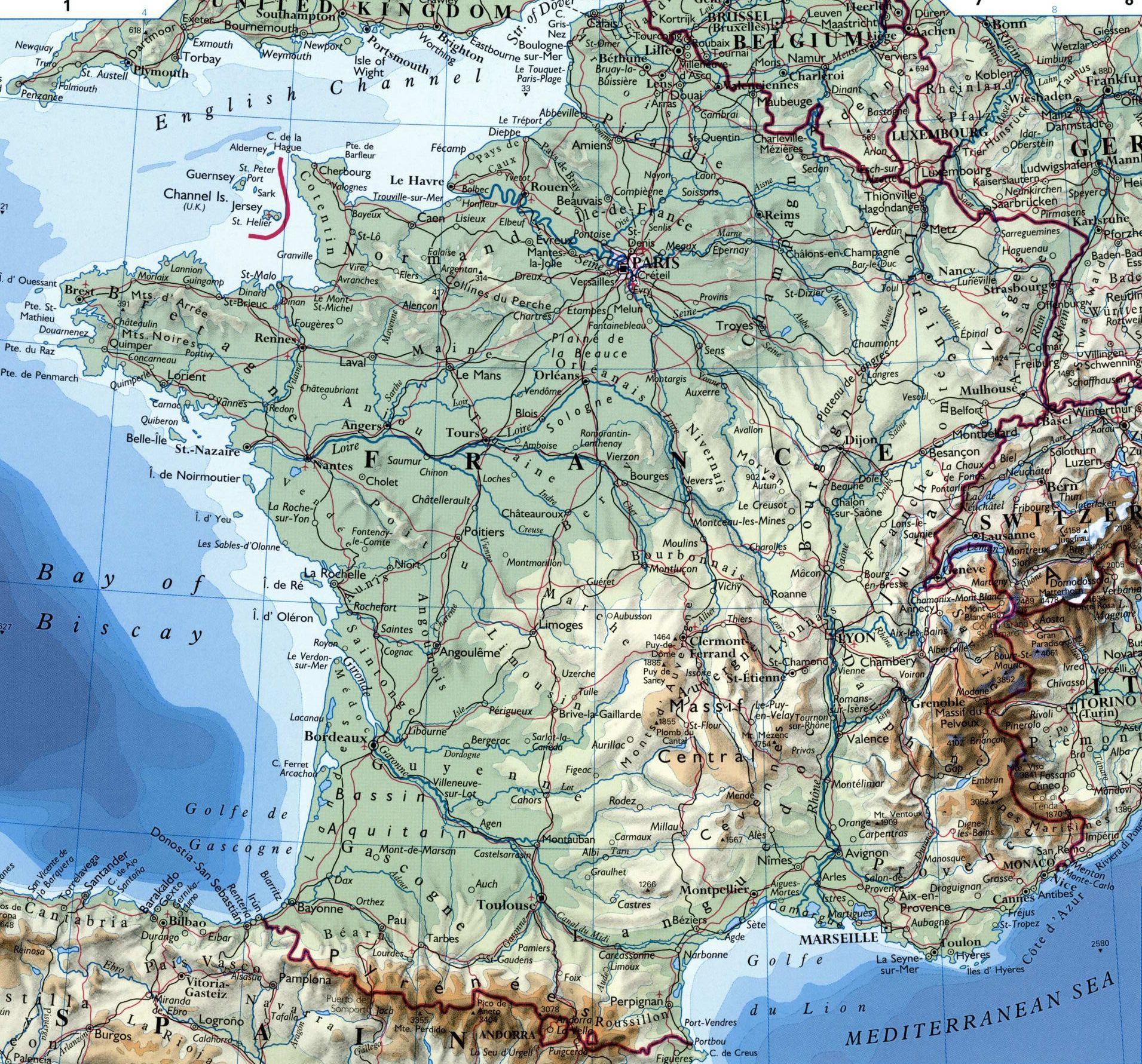 Carte De France Détaillée serapportantà Carte Du Sud De La France Détaillée