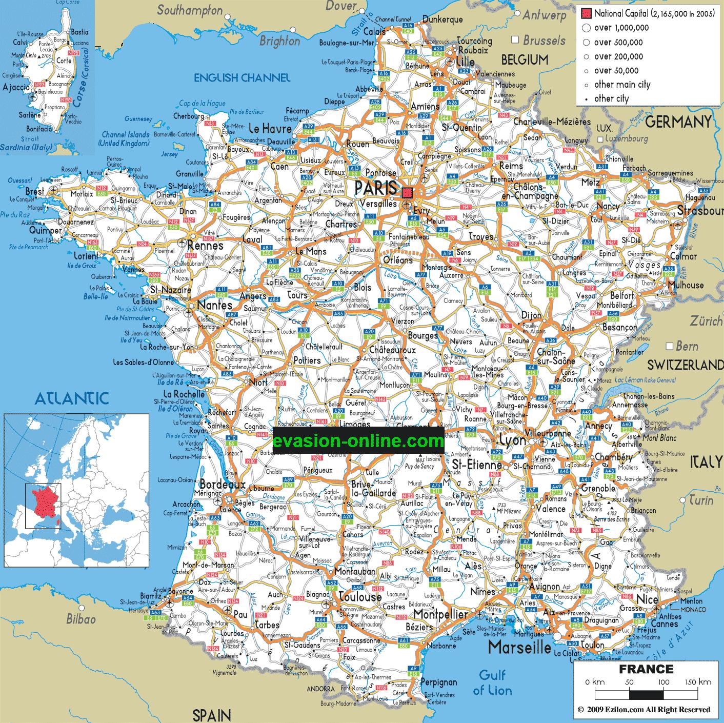 Carte De France Détaillée » Vacances - Arts- Guides Voyages destiné Carte De France Détaillée Avec Les Villes