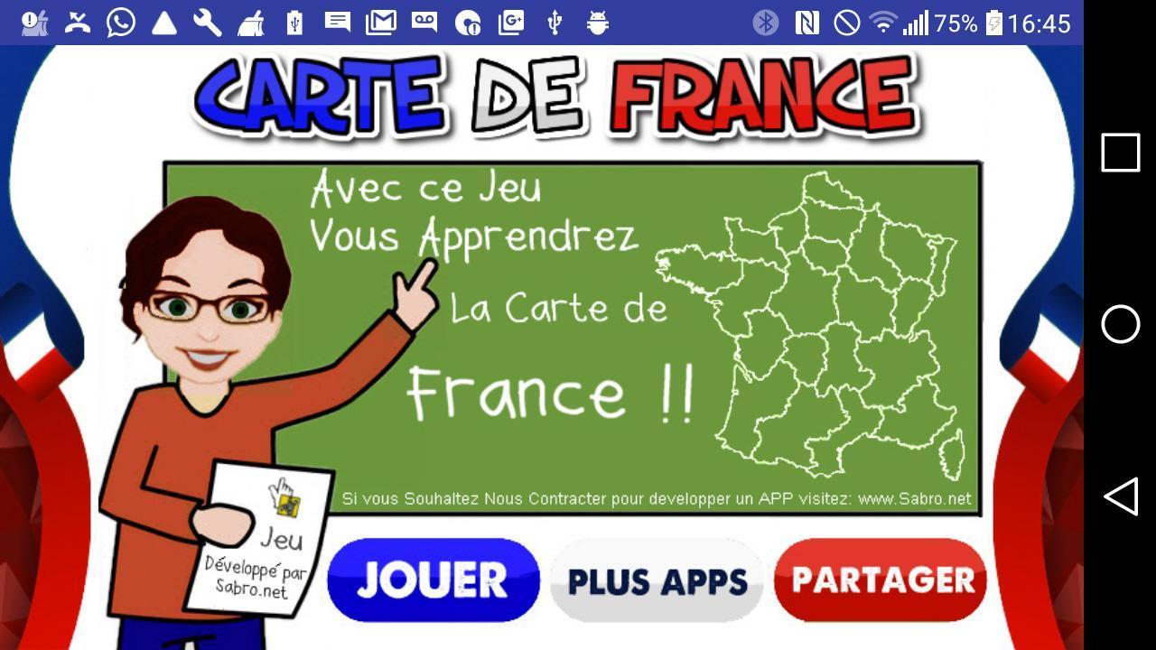 Carte De France Jeu For Android - Apk Download pour Jeu De Carte De France