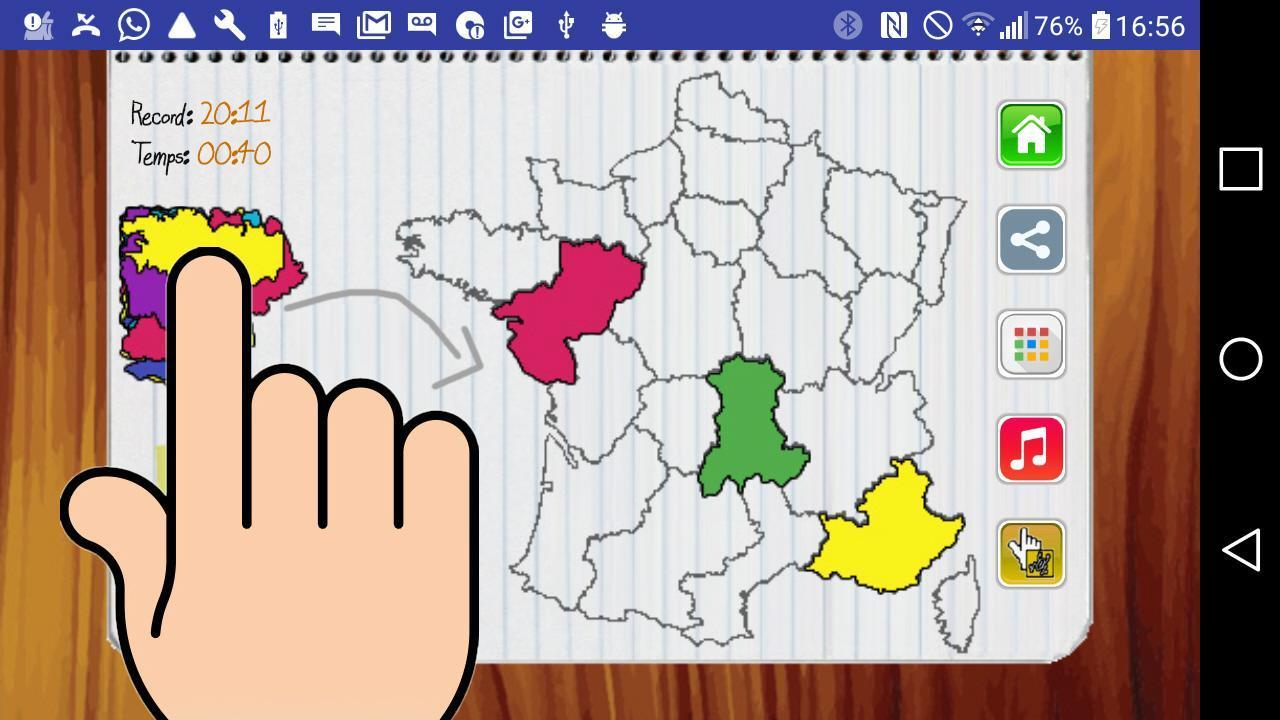 Carte De France Jeu For Android - Apk Download tout Jeu De Carte De France