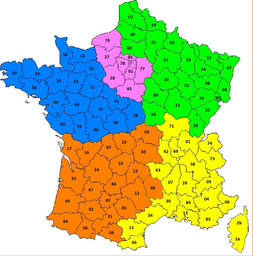 Carte-De-France-N-Departement - Physipro Inc. avec Département 09 Carte