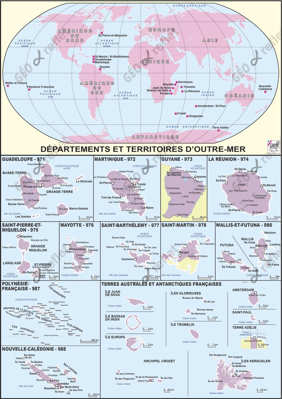 Carte De France Outre-Mer Vecteur intérieur Carte De France Dom Tom
