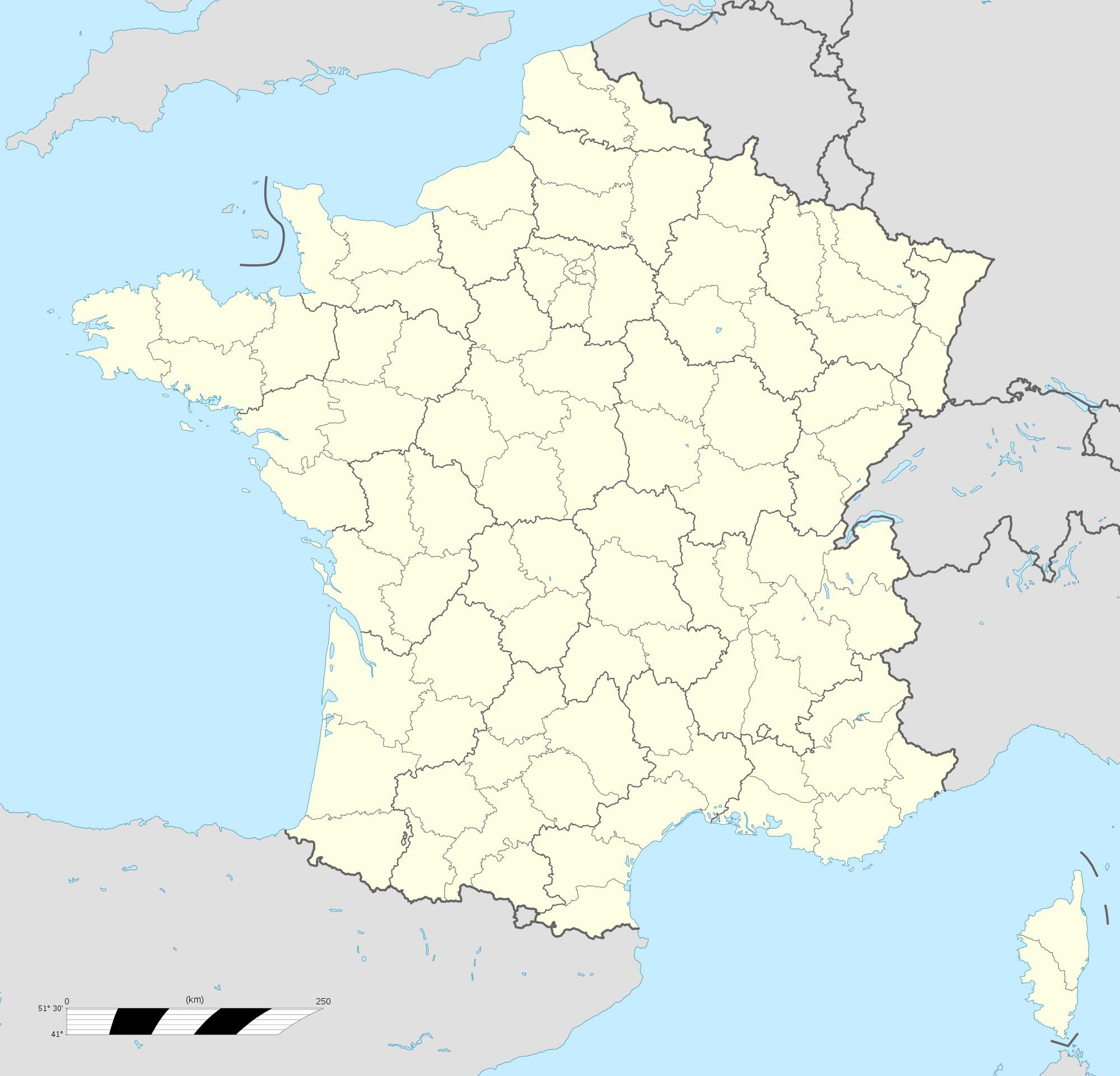 Carte De France Vierge Régions, Carte Vierge Des Régions De intérieur Carte Ile De France Vierge