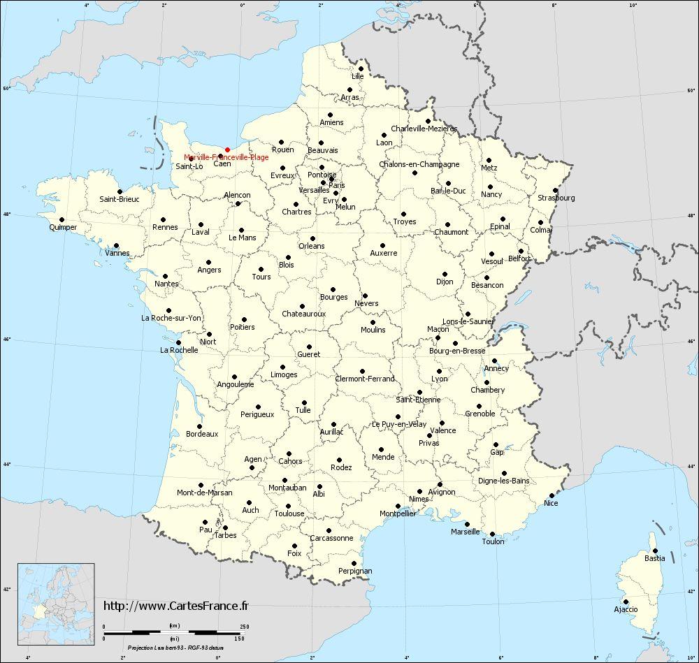 Carte De France - Villes - Voyages - Cartes encequiconcerne Carte De France Avec Villes Et Départements