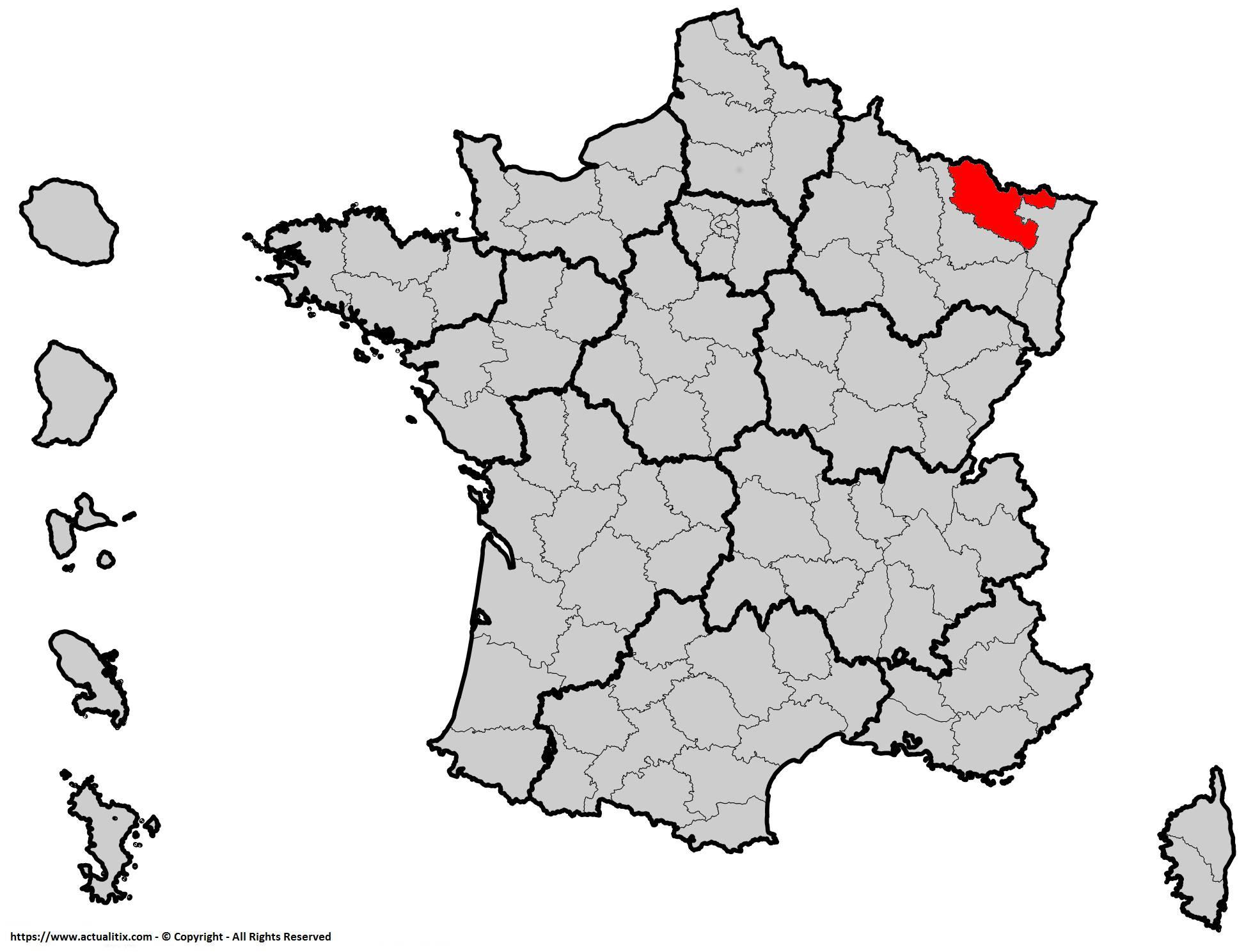 Carte De La Moselle - Moselle Carte Du Département 57 serapportantà Département 57 Carte
