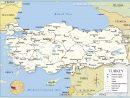 Carte De La Turquie - Relief, Administrative, Régions, Climat pour Carte Des Fleuves