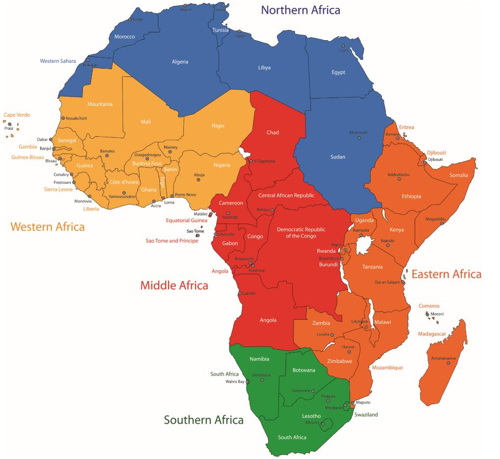 Carte De L'afrique Avec Ses Capitales : Nos Explications encequiconcerne Carte Du Monde Et Leur Capitale