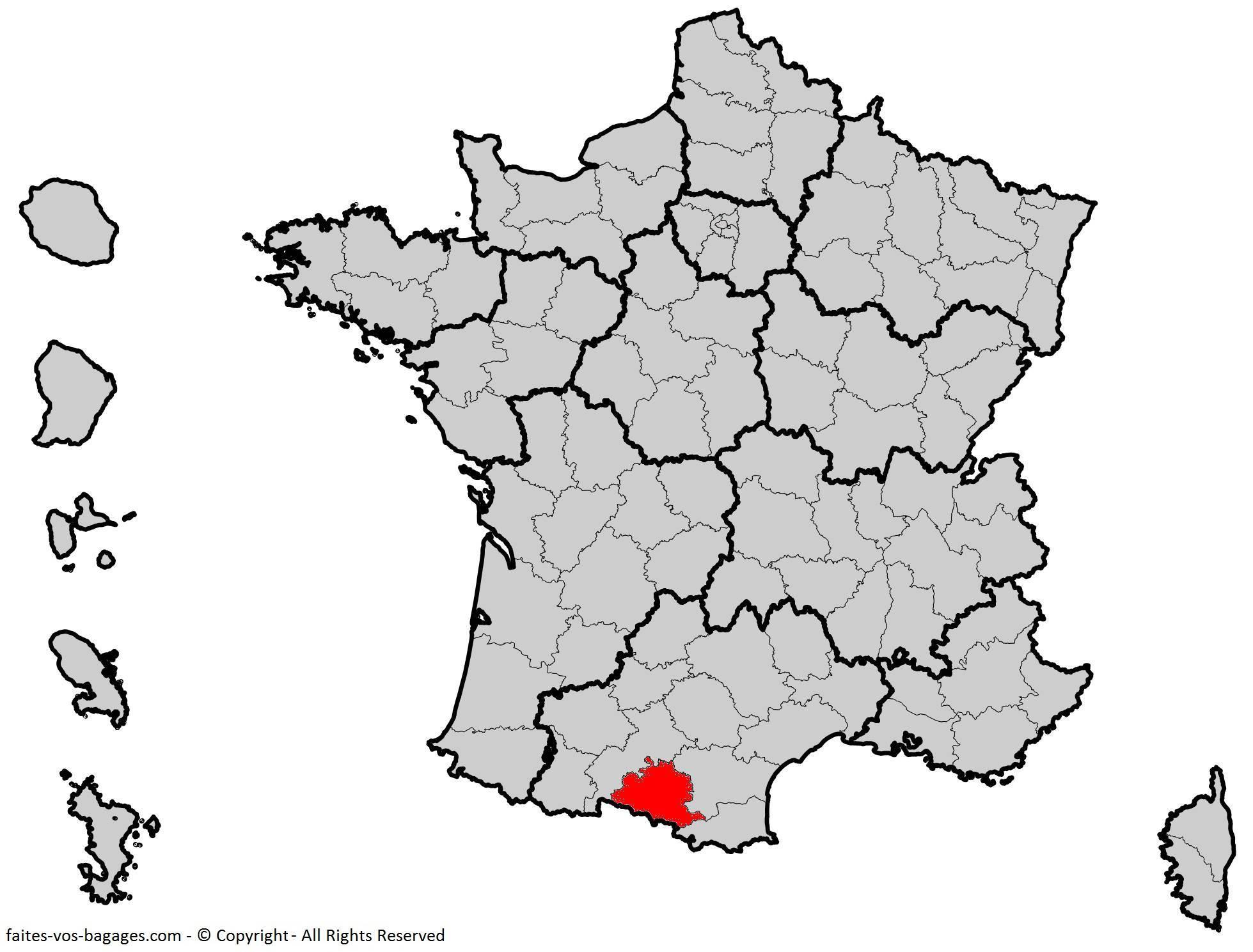 Carte De L'ariège - Ariège Carte Du Département 09 serapportantà Département 09 Carte