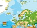 Carte De L'europe - Cartes Reliefs, Villes, Pays, Euro, Ue tout Carte De L Europe En Relief