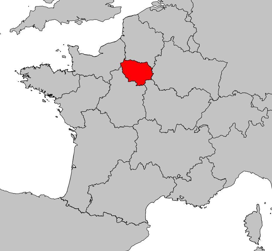 Carte De L'île-De-France - Île-De-France Carte Des Villes concernant Carte Ile De France Vierge