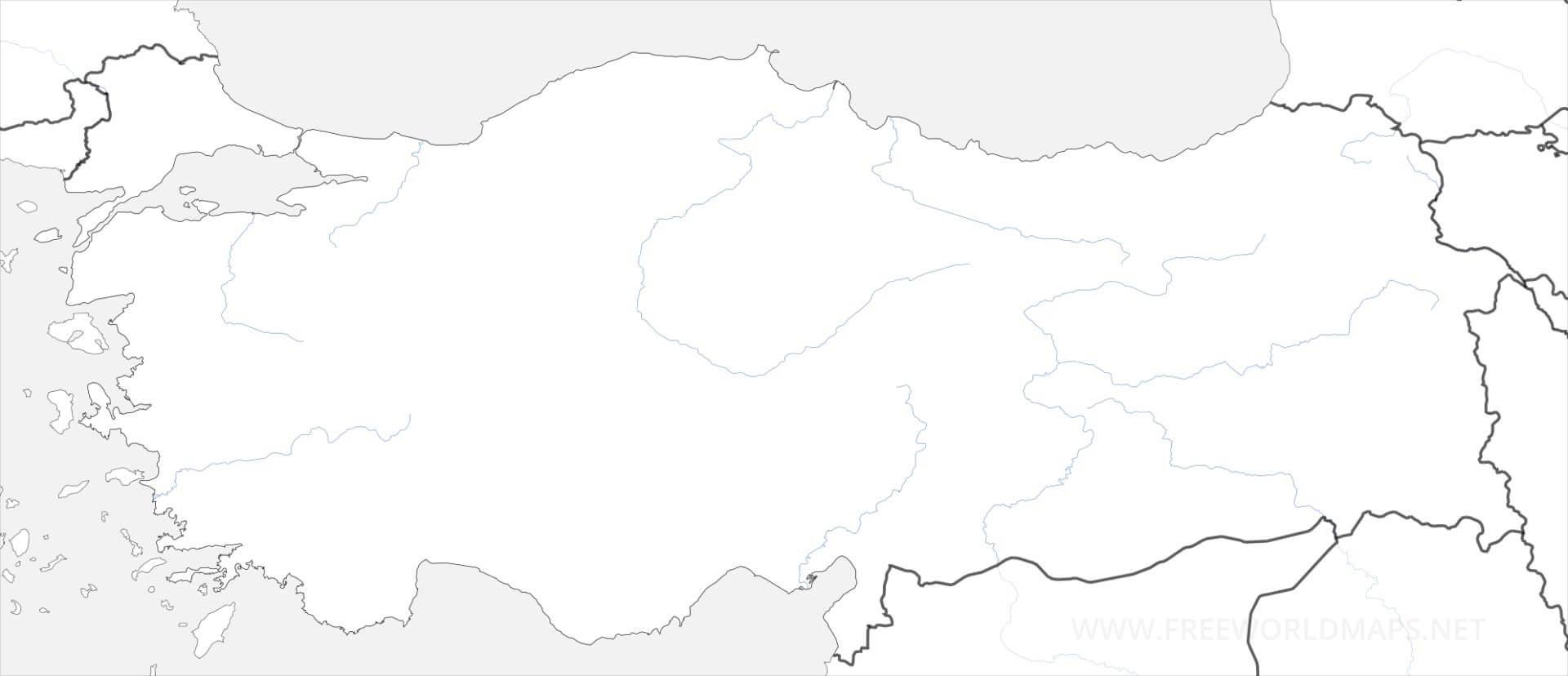 Carte De Turquie encequiconcerne Carte Vierge À Imprimer