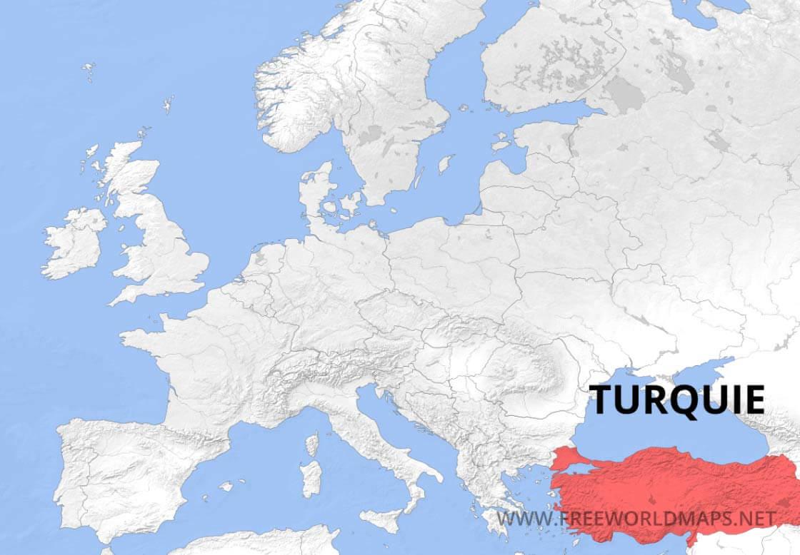 Carte De Turquie tout Carte Fleuve Europe Vierge