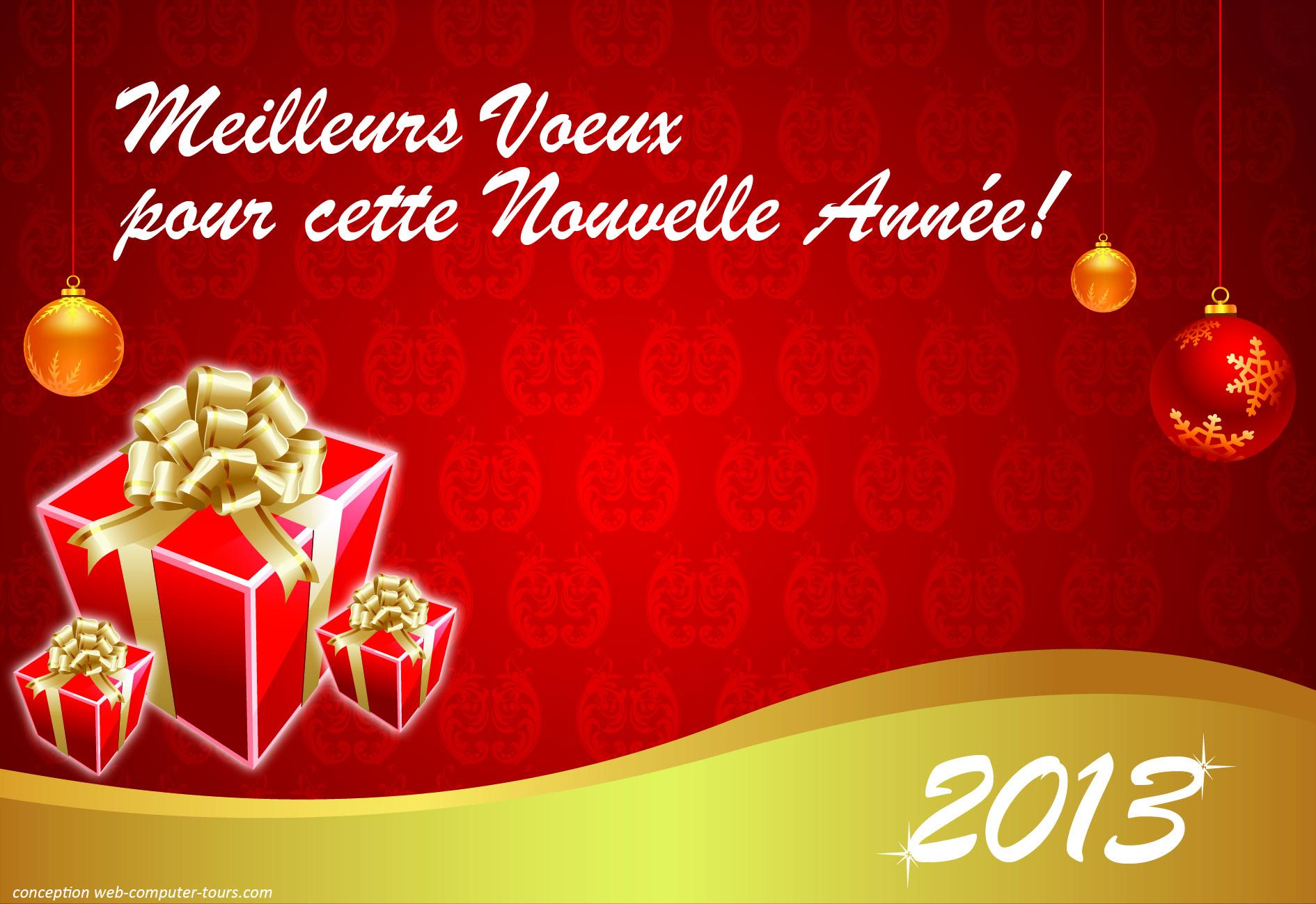 Carte De Voeux 2013 Gratuite - Un Cadeau Du Blog Com! - Le tout Carte De Voeux À Télécharger