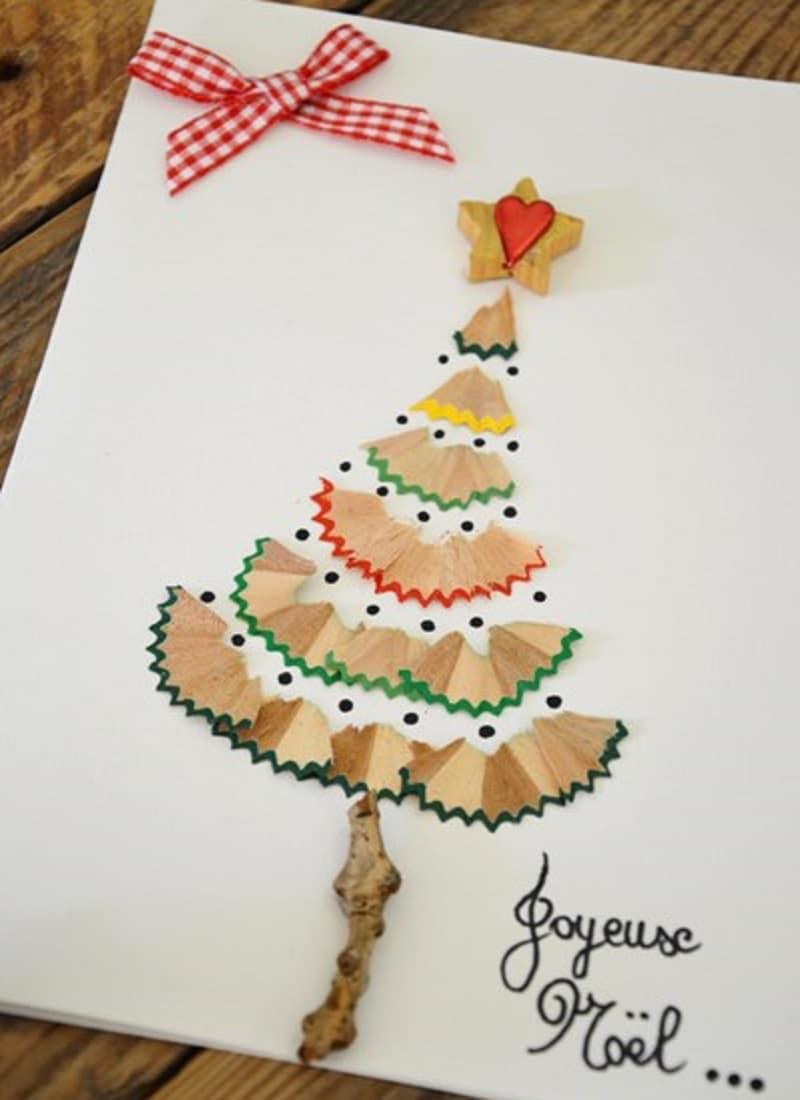 Carte De Voeux Maison : 15 Idées Faciles Pour Les Enfants ! intérieur Cartes De Noel Maternelle