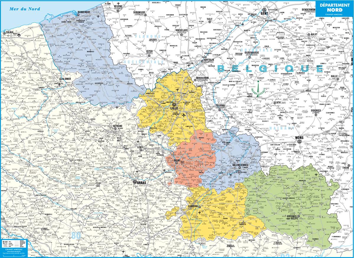 Carte Département Nord à Département 09 Carte