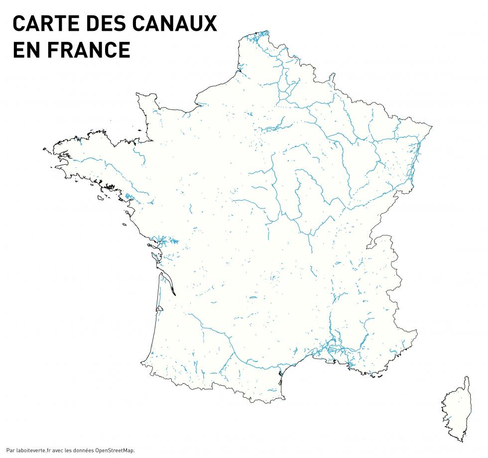 Carte Des Canaux En France destiné Apprendre Carte De France