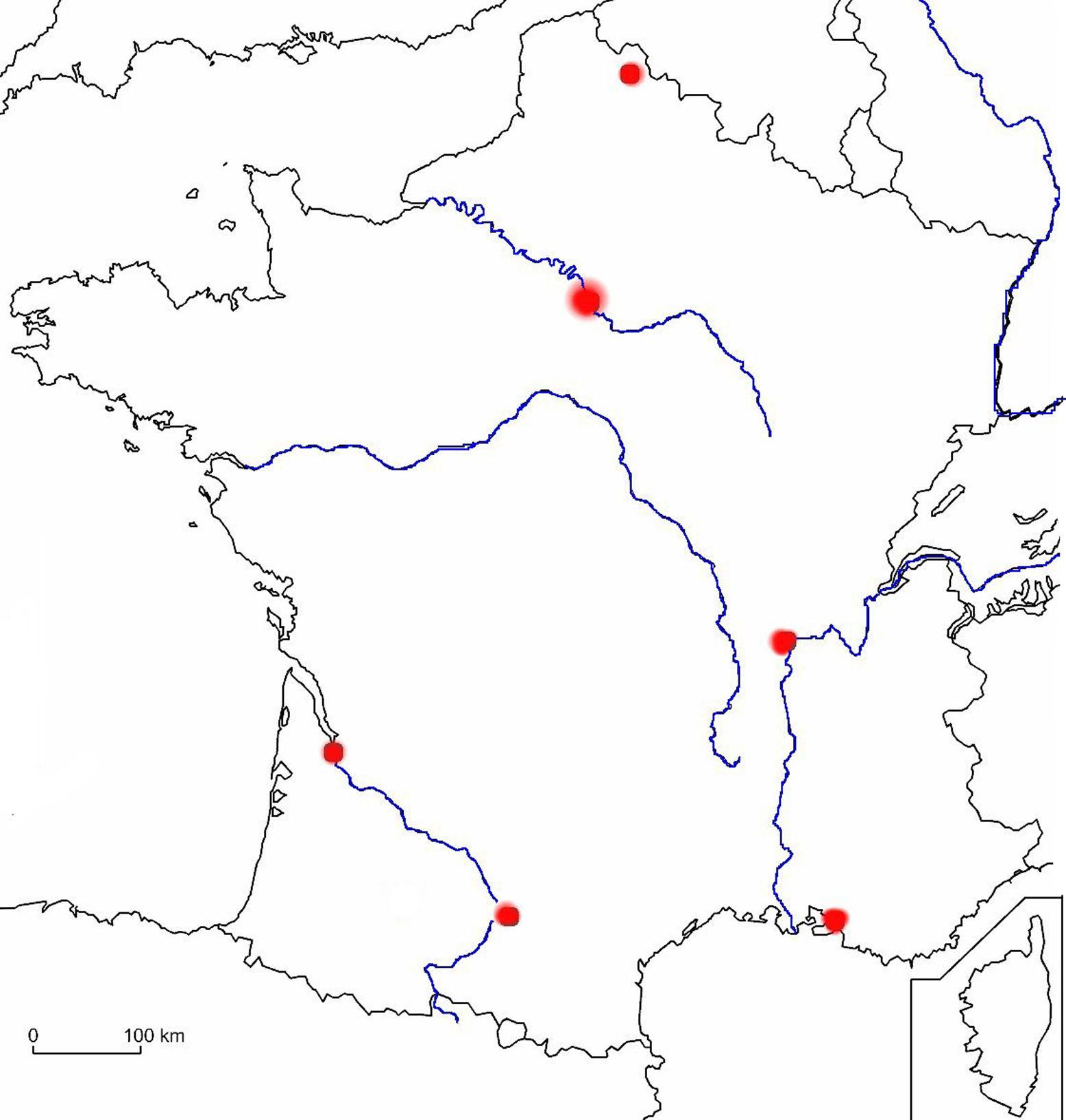 Carte Des Fleuves De France Ce2 | My Blog concernant Carte De France Des Fleuves