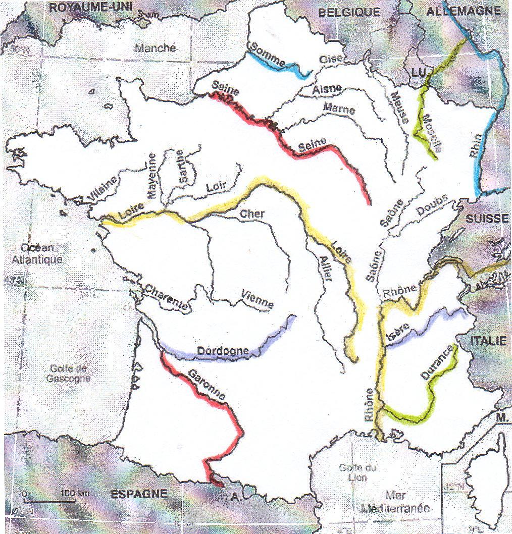 Carte Des Fleuves De France Ce2 | My Blog serapportantà Carte De France Ce2