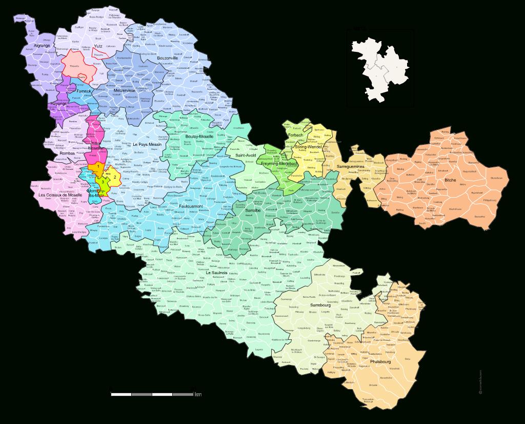 Carte Des Nouveaux Cantons De La Moselle Avec Villes Et Communes concernant Département 57 Carte